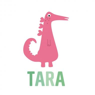 Geboortekaartje Tara met monster
