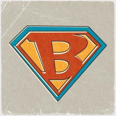 Geboortekaartje Bart met Superman-embleem