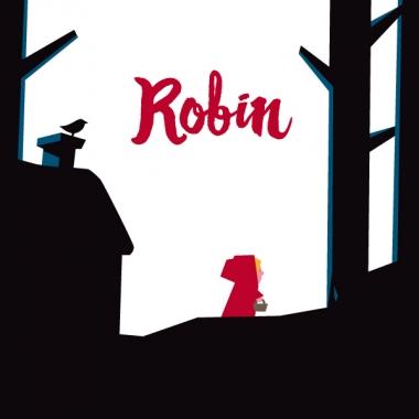Geboortekaartje Robin met Roodkapje