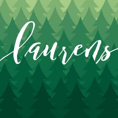 Geboortekaartje Laurens bos
