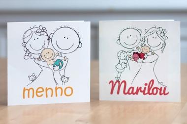 Geboortekaartje op maat - Menno & Marilou