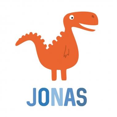 Geboortekaartje Jonas met monster