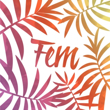 Geboortekaartje Fem met palmtakken