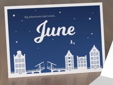 Geboortekaartje op maat - June