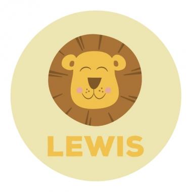Geboortekaartje Lewis met leeuw