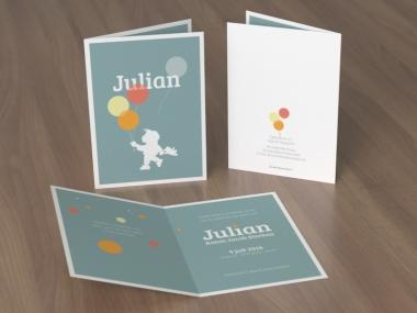 Geboortekaartje op maat - Julian