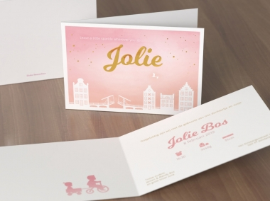Geboortekaartje op maat - Jolie