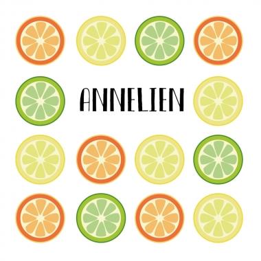 Geboortekaartje Annelien met citrus