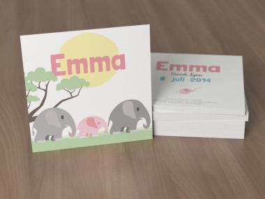 Geboortekaartje op maat - Emma