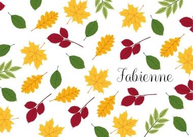 Geboortekaartje Fabienne met bladeren