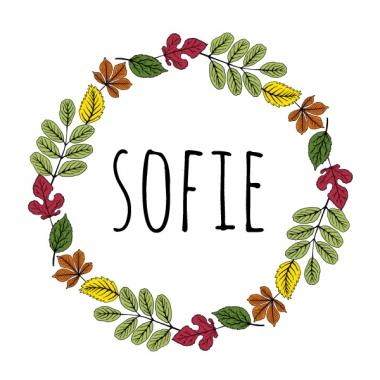 Geboortekaartje Sofie herfstkrans