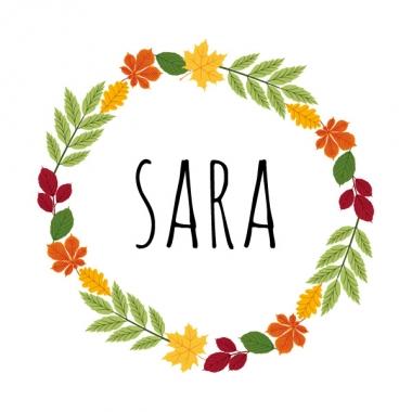 Geboortekaartje Sara herfstkrans