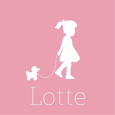 Geboortekaartje Lotte met eend