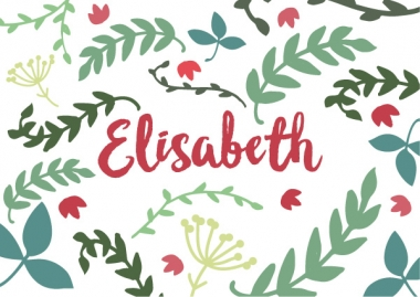 Geboortekaartje Elisabeth