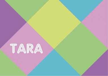 Geboortekaartje Tara ruitjes