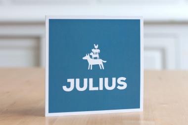 Geboortekaartje op maat - Julius