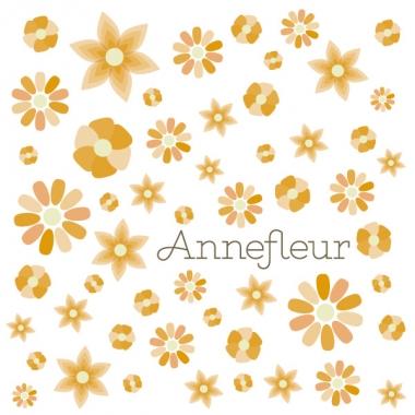 Geboortekaartje Annefleur bloempjes