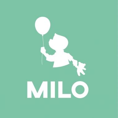Geboortekaartje Milo silhouet met ballon