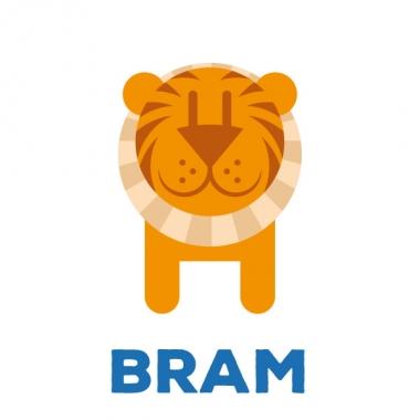 Geboortekaartje Bram met tijger