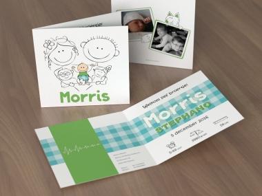 Geboortekaartje op maat - Morris